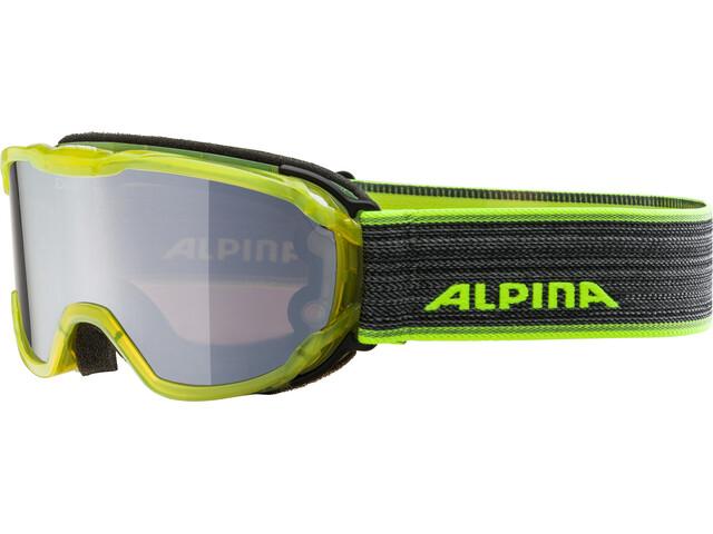 Alpina Pheos MM Goggles Kinder yellow transparent black